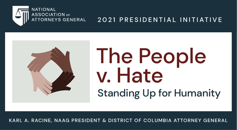 the people v. hate logo with circle of hands