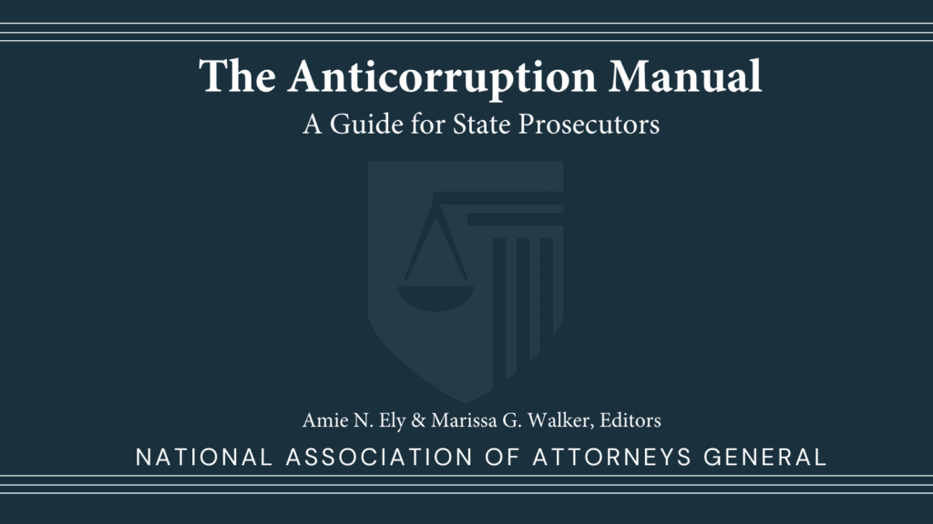 book cover for The Anticorruption Manual