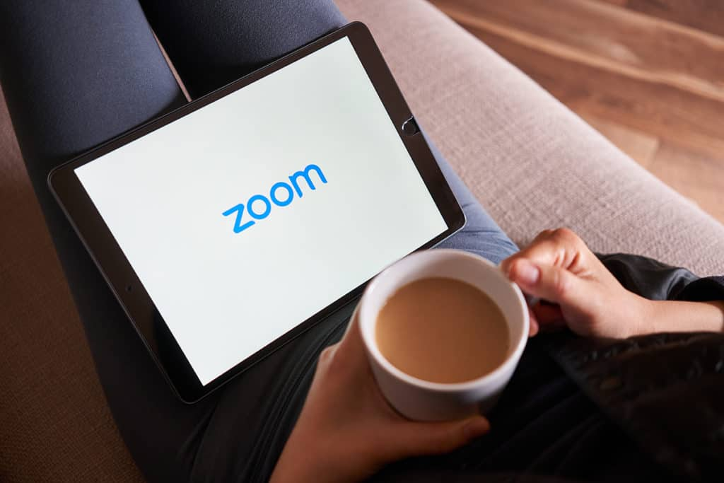 Zoom on tablet
